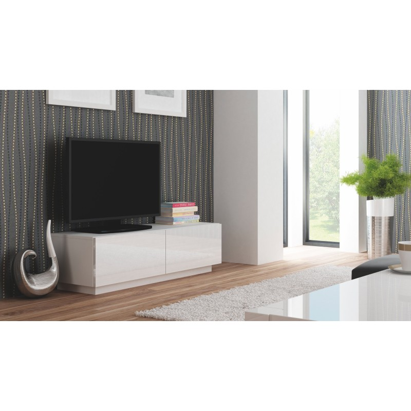 meuble tv moderne blanc valo atout mobilier. Black Bedroom Furniture Sets. Home Design Ideas