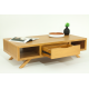 Table basse scandinave en teck massif Sixis