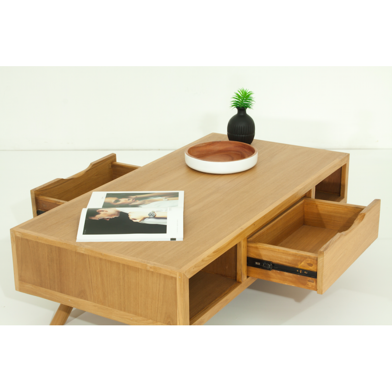 table basse scandinave sixis teck massif atout mobilier. Black Bedroom Furniture Sets. Home Design Ideas