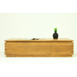 Table basse contemporaine en teck massif Riss