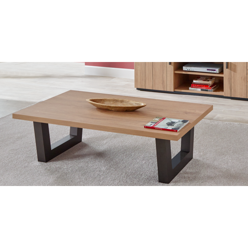 Table basse contemporaine kara couleur ch ne atout mobilier for Tables basses contemporaines