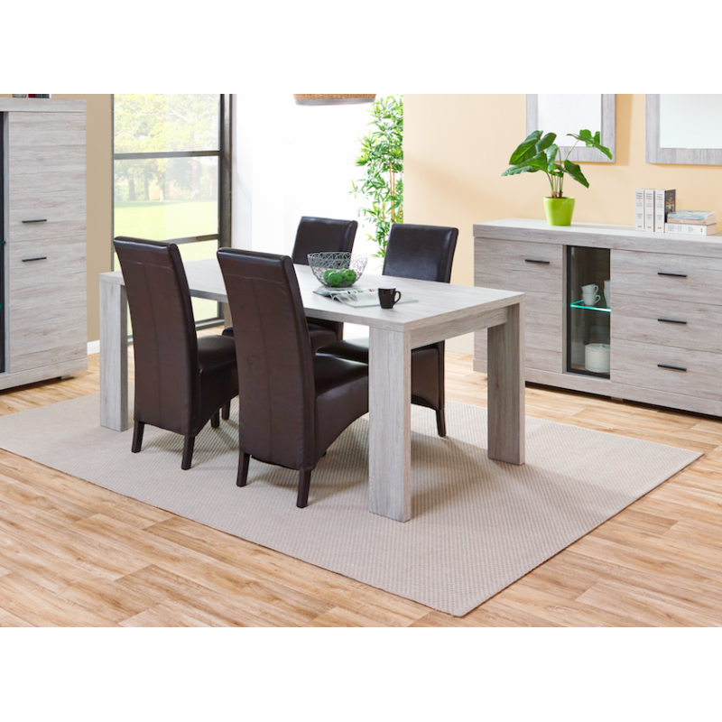table manger contemporaine 190 cm gris portofino atout mobilier. Black Bedroom Furniture Sets. Home Design Ideas