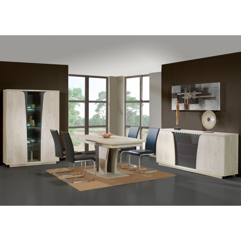 salle manger joma moderne ch ne clair graphite atout mobilier. Black Bedroom Furniture Sets. Home Design Ideas
