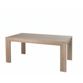 Table à manger rectangulaire contemporaine chêne gris 185 cm