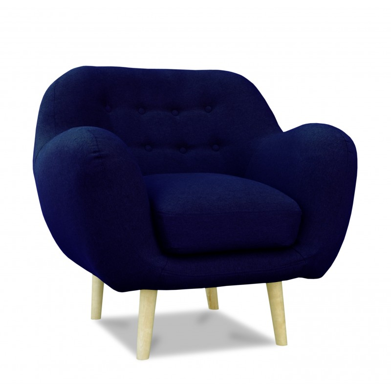fauteuil scandinave en tissu bleu malmo atout mobilier. Black Bedroom Furniture Sets. Home Design Ideas