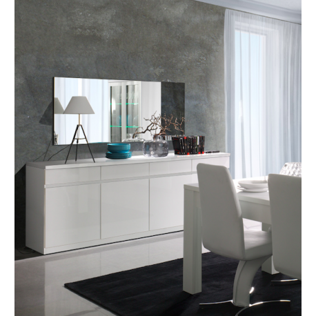 buffet bahut moderne franco ii blanc brillant atout mobilier. Black Bedroom Furniture Sets. Home Design Ideas