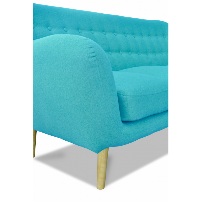 canap scandinave 3 places en tissu bleu turquoise malmo. Black Bedroom Furniture Sets. Home Design Ideas