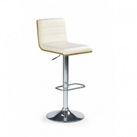 Chaise de bar design en PU blanc Poppy