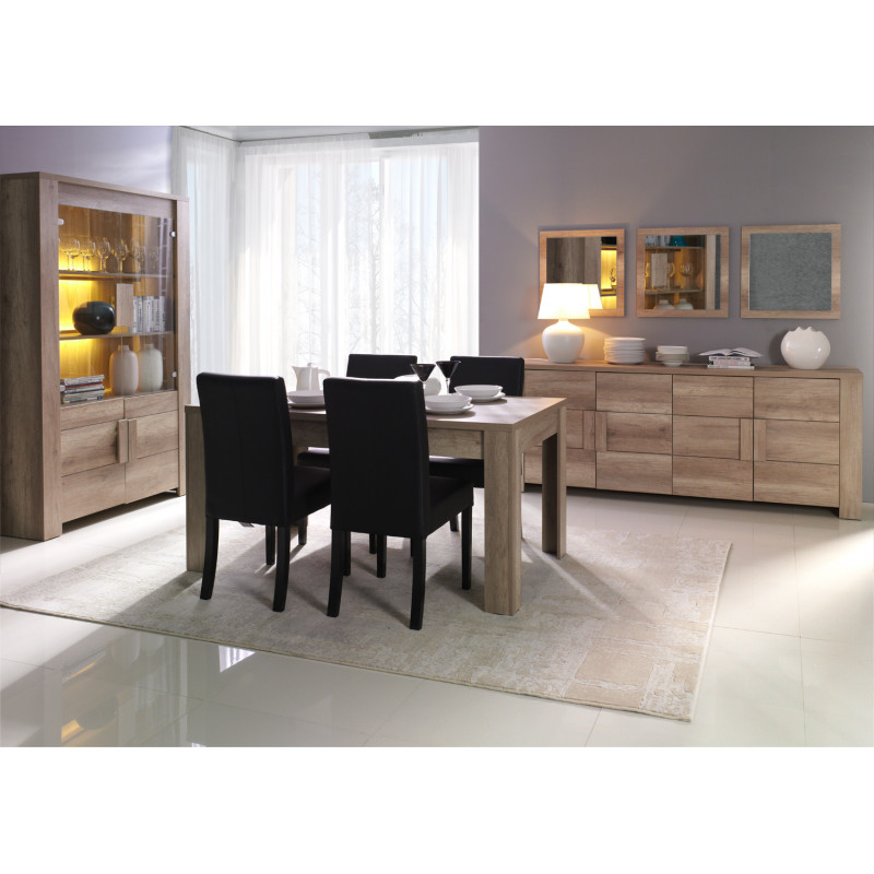 salle manger compl te couleur ch ne canyon atout mobilier. Black Bedroom Furniture Sets. Home Design Ideas